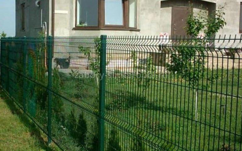 забор для дачи 3д