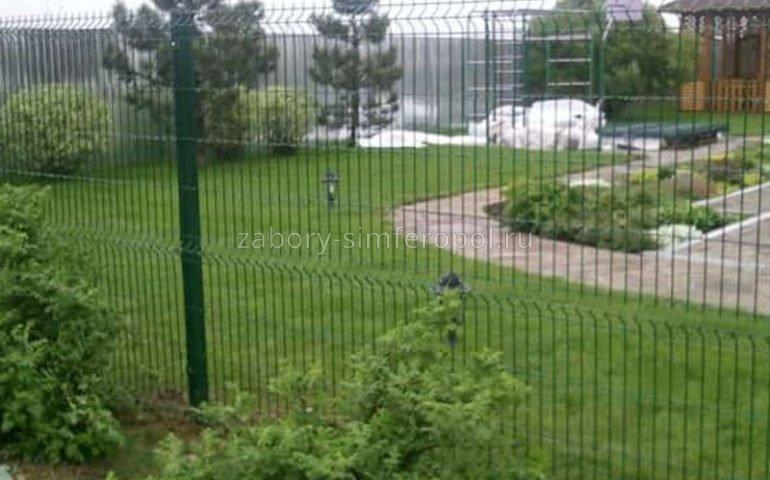 секционный забор 3д