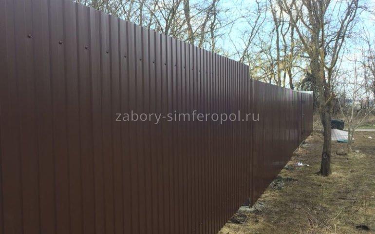 забор из профлиста в Симферополе